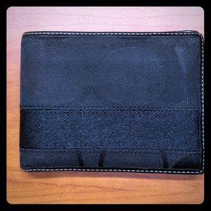 Coach Bags - COACH wallet signature print black canvas/leather